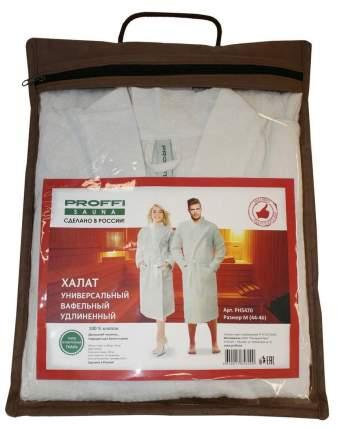 Халат универсальный вафельный удлиненный, цвет белый, размер M