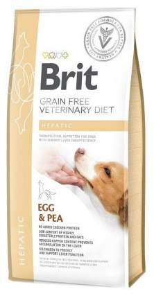 Сухой корм для собак Brit Grain free Veterinary diet Hepatic Яйцо и горох 2 кг
