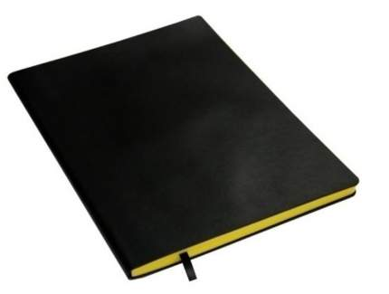 "Тетрадь ""In Black"" А4, желтая, 80 листов, в клетку"