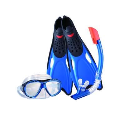 Набор для плавания: маска, трубка и ласты Wave MSF-1396S25BF71, размер 38-39, синий