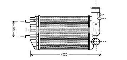 Радиатор охлаждения двигателя Fiat Ducato, Peugeot Boxer Ava PE4183