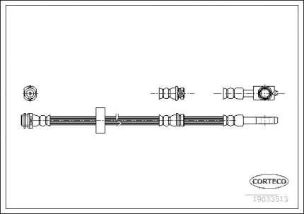 Шланг тормозной системы CORTECO 19033513