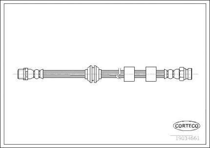 Шланг тормозной CORTECO 19034661