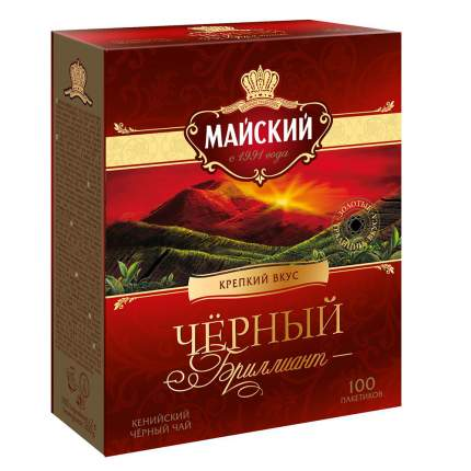 Чай черный Майский черный бриллиант 100 пакетиков