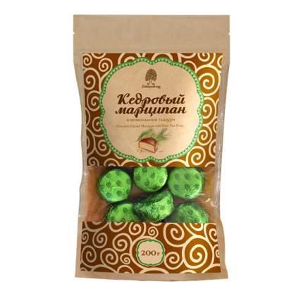 Конфеты Сибирский Кедр  марципан кедровый в шоколадной глазури 200 г