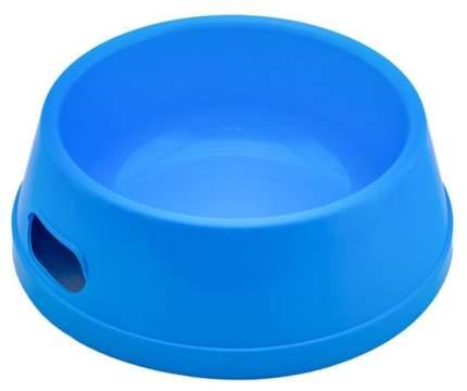 Одинарная миска для собак Дарэлл, пластик, синий, 1.5 л