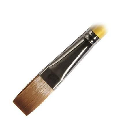 Daler Rowney Кисть жесткая синтетика плоская №12 длинная ручка SYSTEM 3 Daler-Rowney
