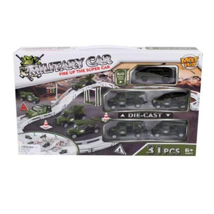 Автотрек Наша игрушка электрифицированный Военный MH-003