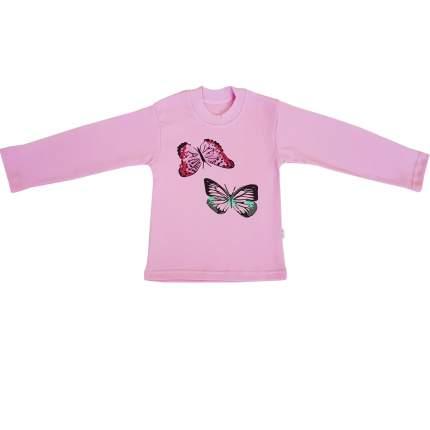 Футболка Папитто розовая Бабочки 821-384 р.98