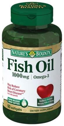 Нэйчес Баунти рыбий жир капсулы 1000 мг 50 шт.