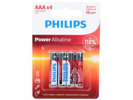 Батарейка Philips LR03P4B/51 Power 4 шт