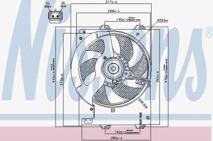 Вентилятор охлаждения двигателя NISSENS 85267