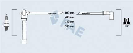 Комплект проводов зажигания FAE 85648