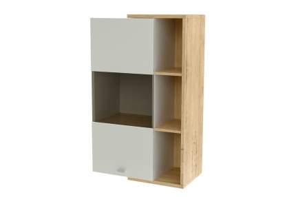 Платяной шкаф Hoff Корсика 80332715 64,8х36х106,4, серебряный гранит/бунратти светлый