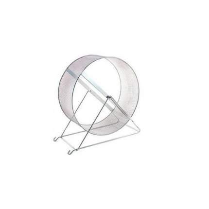 Беговое колесо для грызунов Дарэлл металл, с сеткой на подставке, 20 см