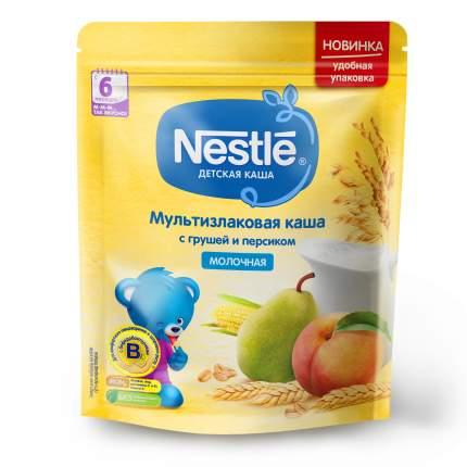 Молочная мультизлаковая каша Nestle с грушей и персиком с 6 мес 220г