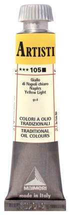 Масляная краска Maimeri Artisti M0102105 неаполитанский желтый светлый 20 мл
