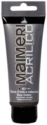 Акриловая краска Maimeri Acrilico M0924493 умбра натуральная 200 мл