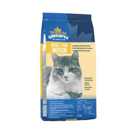 Сухой корм для кошек Chicopee Indoor, для домашних, курица, 2кг