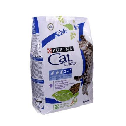 Сухой корм для кошек Cat Chow Special Care 3 in 1, домашняя птица, 1,5кг