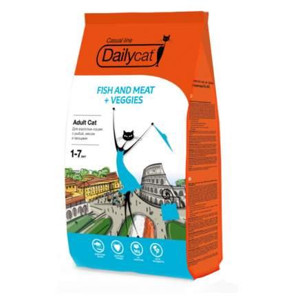 Сухой корм для кошек Dailycat Casual Line, рыба, мясо, овощи, 10кг