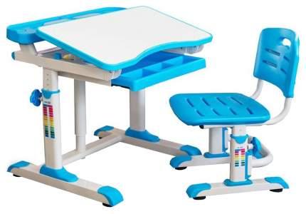 Комплект мебели Mealux столик + стульчик BD-09 белый, голубой