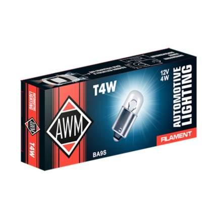 Лампа накаливания AWM Т4W 12V 4W (BA9S)