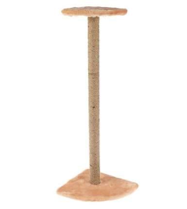 Когтеточка ZooMark, с полкой угловая 100 см, мех, 35 х 35 х 100 см