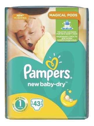 Подгузники для новорожденных Pampers New Baby-Dry 1 (2-5 кг), 43 шт.