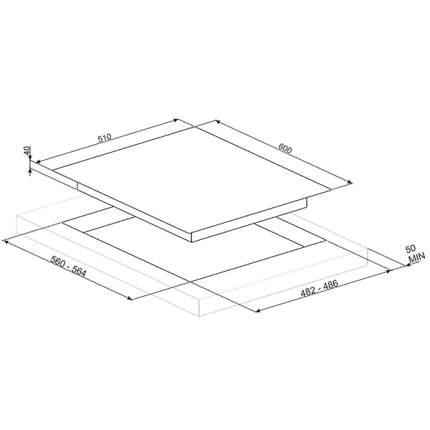 Встраиваемая варочная панель газовая Smeg PV164CB White