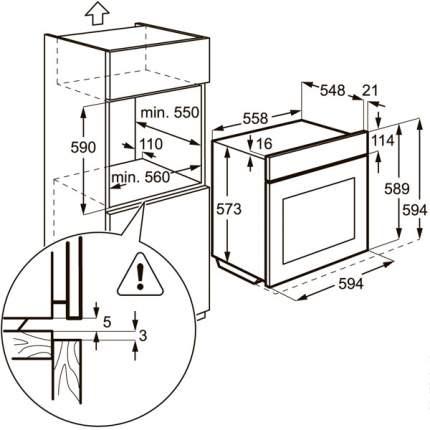 Встраиваемый газовый духовой шкаф Electrolux EOG92102CX Silver
