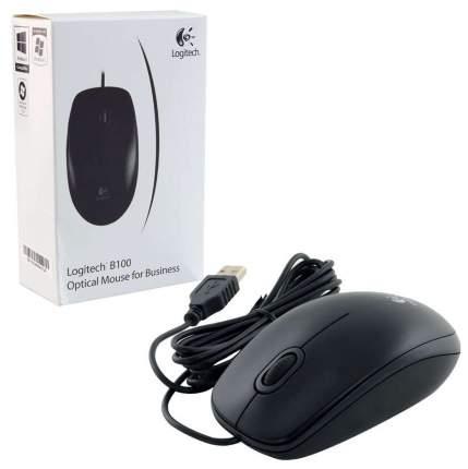 Проводная мышка Logitech B100 Black (910-003357)