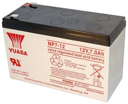 Аккумулятор для ИБП Yuasa NP7-12 12В/7А