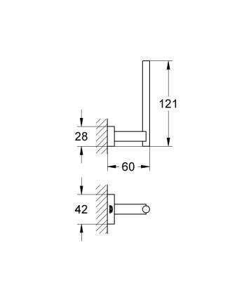 Держатель запасного рулона бумаги GROHE Essentials Cube, хром