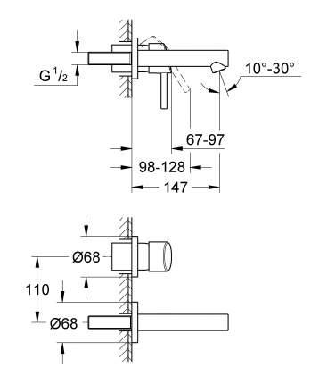 Смеситель для встраиваемой системы Grohe Concetto 19575001 серебристый
