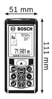 Лазерный дальномер Bosch GLM 80 601072300