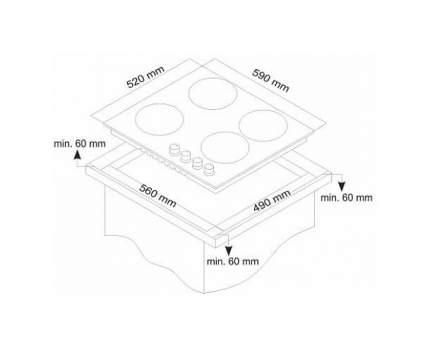 Встраиваемая варочная панель газовая Simfer H60H40B511 Black