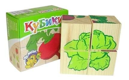 """Детские кубики Томик """"Овощи"""""""