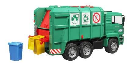 Машина спецслужбы Bruder Мусоровоз MAN TGA зеленый