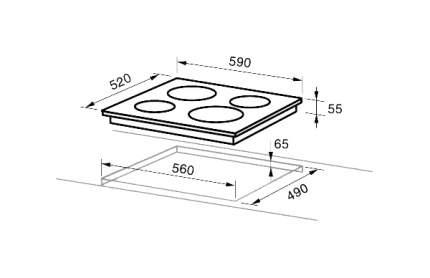 Встраиваемая варочная панель индукционная Midea MIH64721FRI Beige