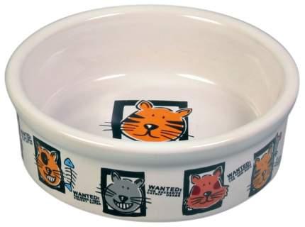 Набор мисок для кошек TRIXIE, керамика, разноцветный, 4 шт по 0.2 л