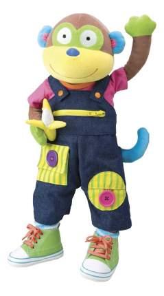 Мягкая игрушка ALEX развивающая Учимся одеваться с обезьянкой 1492