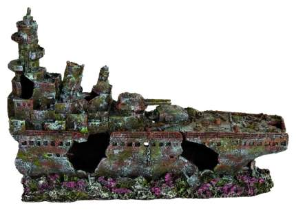 Грот для аквариума TRIXIE Shipwreck Разбитый корабль, полиэфирная смола, 16х74х28 см