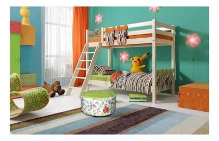 Двухъярусная кровать МебельГрад Соня с наклонной лестницей (вариант 10)
