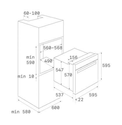 Встраиваемый электрический духовой шкаф TEKA HLB 850 Silver