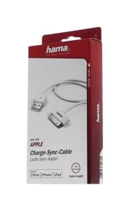 Кабель Hama essential line 30-pin 1м White