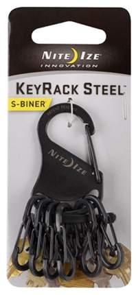 Набор карабинов Nite Ize S-Biner KeyRack Steel KRS-03-01 Black