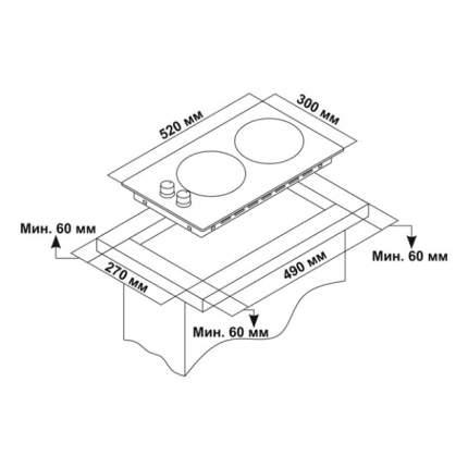 Встраиваемая модульная газовая панель Novex ND 3720 H