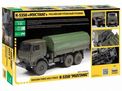 Сборная модель Звезда Российский трехосный грузовик К-5350 Мустанг масштаб 1:35 3697
