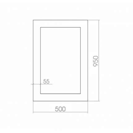 Зеркало MIXLINE Глянец Белый 500х950